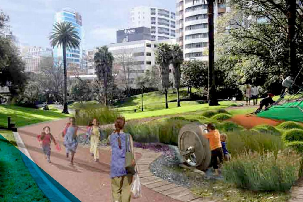 An artist's impression of Myers Park after the revamp.