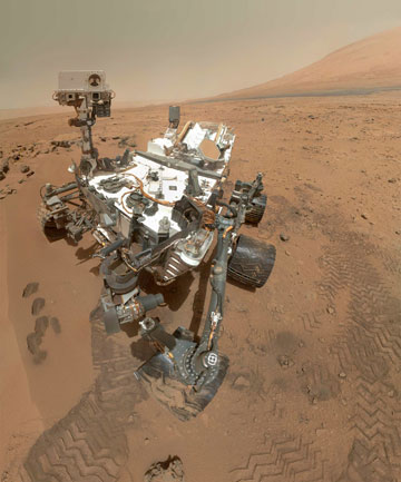 SEARCHING: Nasa Mars rover Curiosity is travelling across the red planet in search of the ingredients that make life possible.