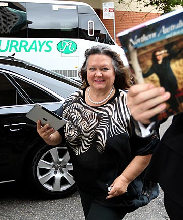 BILLIONAIRE PUBLICATION: Gina Rinehart arrives at the launch of her book in Sydney last week.