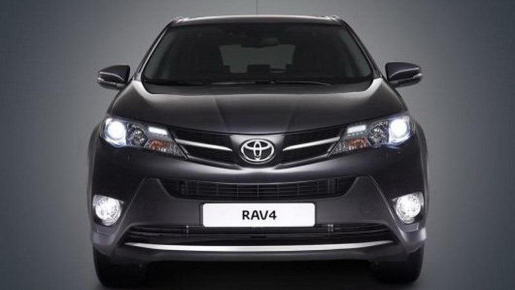 A leaked photo of the redesigned Toyota RAV4.