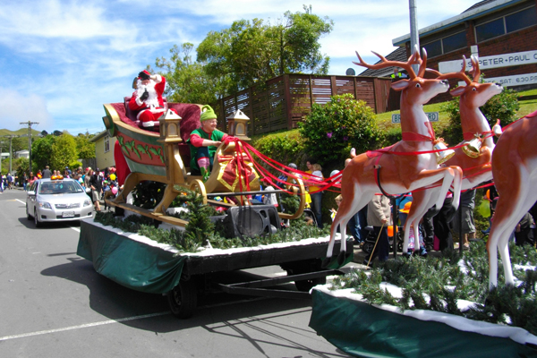 Festive cheer: Santa Claus is coming to Johnsonville.
