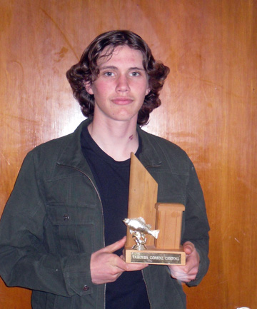 Trophy winner: Samuel Crawford, of Brooklands, was this year's Kaikoura Coastal Fishing Competition winner