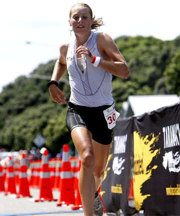 BACK TO BACK: Cambridge's Candice Hammond made it two from two when she won this year's New Plymouth half ironman after winning the event in 2011.