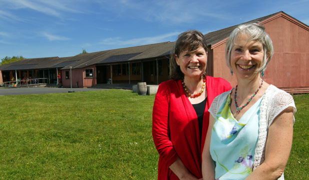 NEW TERRITORY: Waikato Waldorf School principal Marianne Spiller and board of trustees chairwoman Richelle Whittaker have gained approval to accept students up to year nine.