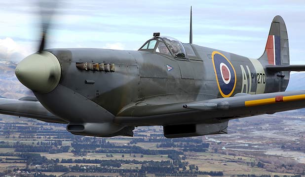 BURIED TREASURE: A Spitfire similar those that a British farmer and flying enthusiast believes are buried in Myanmar.
