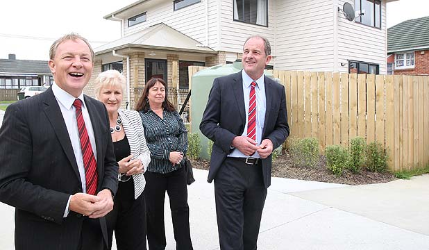 MP Phil Goff, Annette King, Carol Beaumont and Labour leader David Shearer