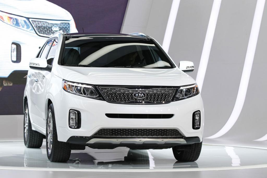 The 2014 Kia Sorento is presented at the 2012 Los Angeles Auto Show in Los Angeles.