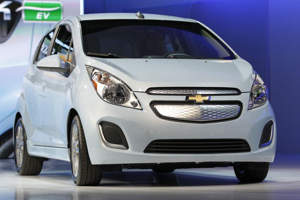 A 2013 Chevrolet Spark - known as the Holden Barina Spark in New Zealand - Electric Vehicle is pictured after being unveiled at the 2012 Los Angeles Auto Show in Los Angeles.