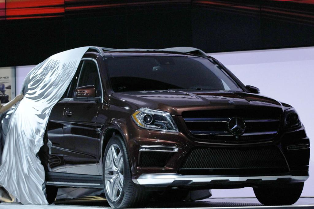 The 2013 Mercedes Benz GL63 AMG is unveiled at the 2012 Los Angeles Auto Show in Los Angeles.