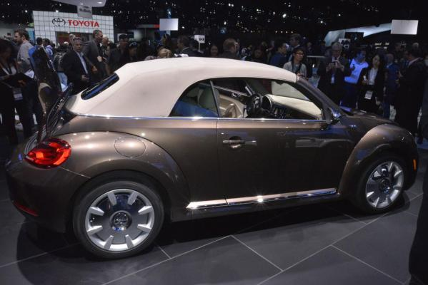 The Volkswagen Beetle Cabriolet at the 2012 Los Angeles Auto Show in Los Angeles.
