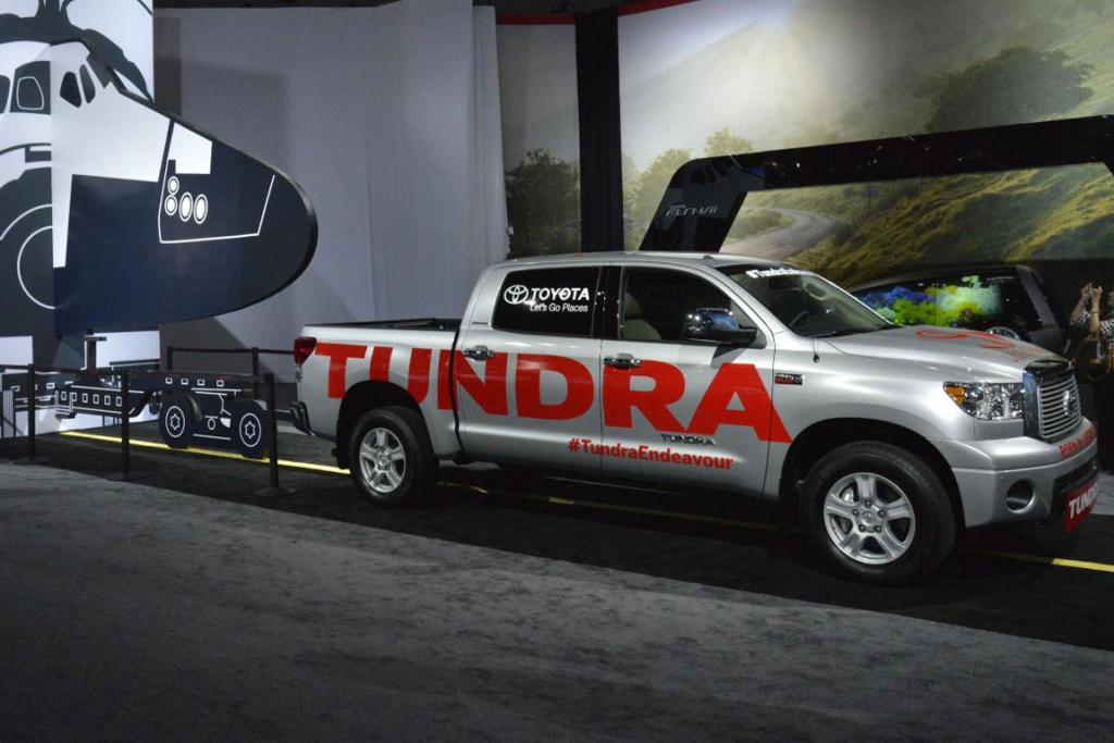A Toyota Tundra Endeavour at the 2012 Los Angeles Auto Show in Los Angeles.