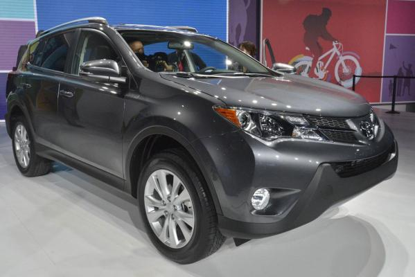 The new Toyota RAV4 at the 2012 Los Angeles Auto Show in Los Angeles.