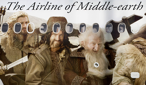 "TOO MUCH? Air New Zealand is calling itself the ""official airline to Middle-earth""."
