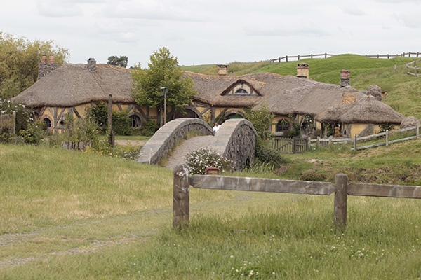 The Green Dragon pub on the Hobbiton movie set near Matamata.
