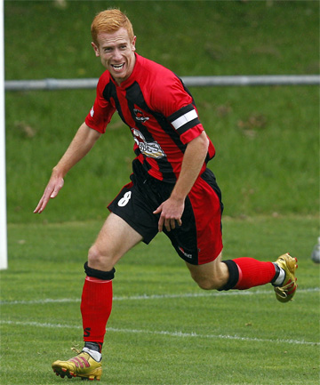 CLASS ACT: Aaron Clapham in action for Canterbury United.