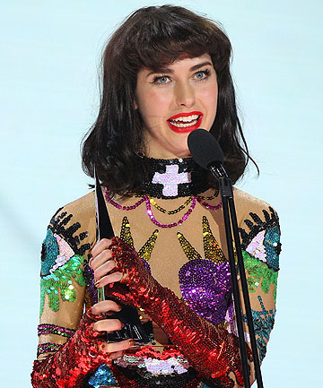 WHIRLWIND YEAR: Kimbra clutches her second ARIA for Best Female Artist, awarded to her last night.