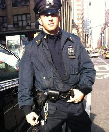 TOP BLOKE: New York police officer Larry DePrimo.