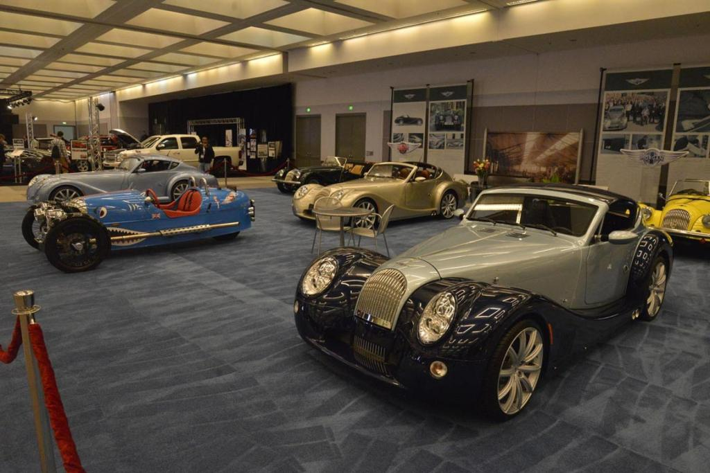 The Morgan car company's stand at the 2012 Los Angeles Motor Show.