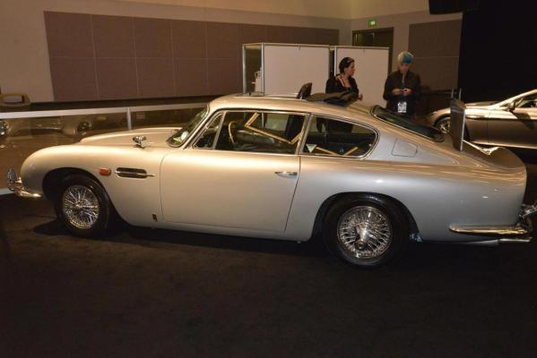 An Aston Martin DB5 on display at the 2012 Los Angeles Motor Show.