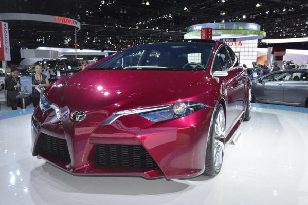 The Toyota NS4 on display at the Los Angeles Motor Show.