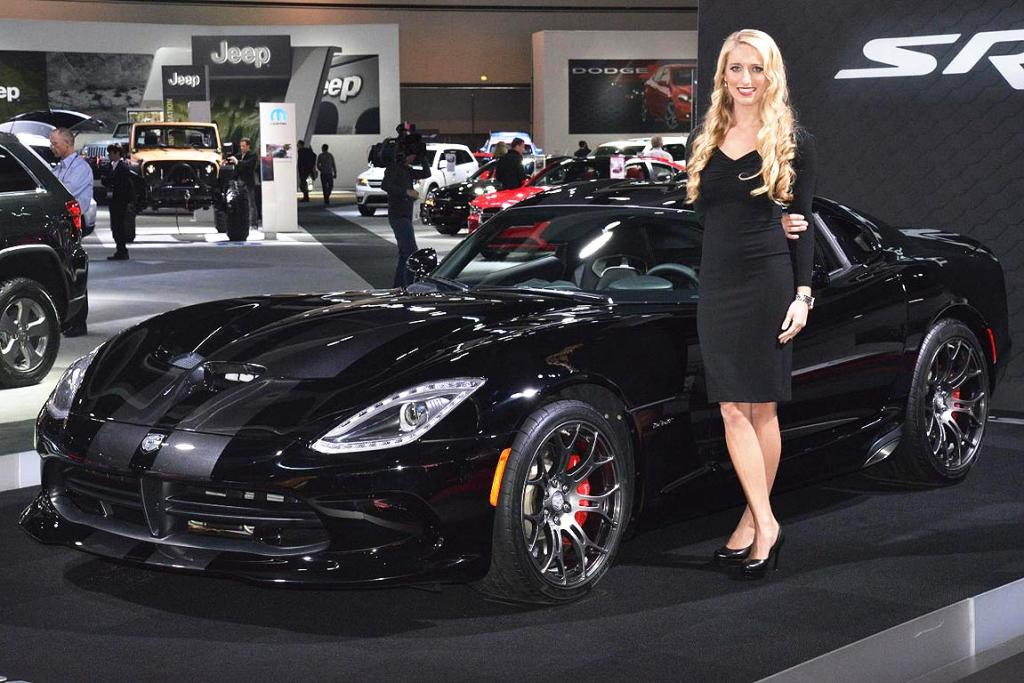 The Dodge Viper SRT on display at the Los Angeles Motor Show.
