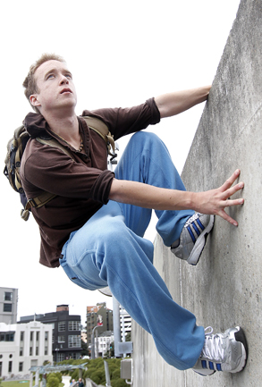 "SPIDER MAN: ""Parkour challenges the way people see their environment,"" says Max Bell."