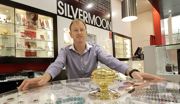 BRIGHTER THINGS: Simon Thwaites, co-owner of Silvermoon jewellery.