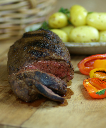 Sweet paprika barbecue beef fillet: Great served with boiled potatoes tossed with melted butter, chopped mint and lemon pepper