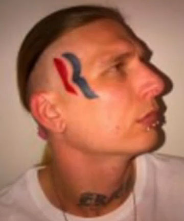 CHANGE OF HEART: Eric Hartsburg has decided to get rid of his Romney-Ryan tattoo.