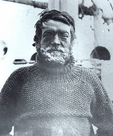 ANTARCTIC ADVENTURER: Sir Ernest Shackleton.