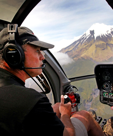 Heliview hopes Mt Taranaki stakeholders will change landing rights to allow aircraft to land on the Pouakai Ranges