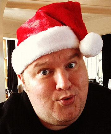 MEGA STAR: Kim Dotcom will play Santa at The Basement Theatre in Auckland.