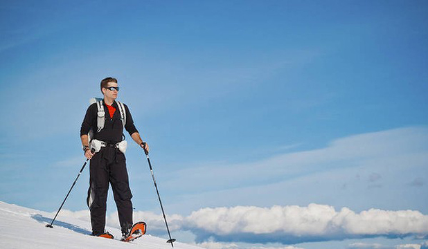 SOFT SHOE SHUFFLE: Snowshoes point the way to majestic solitude on Grouse Mountain, a playground for Vancouver's skiiers