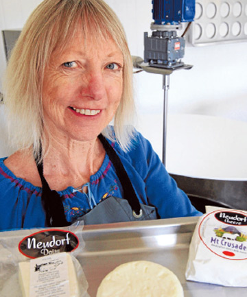 CHRISTMAS FUNDAMENTALS: Neudorf Dairy cheesemaker Fiona Guyan with some items that will make great Christmas gifts.