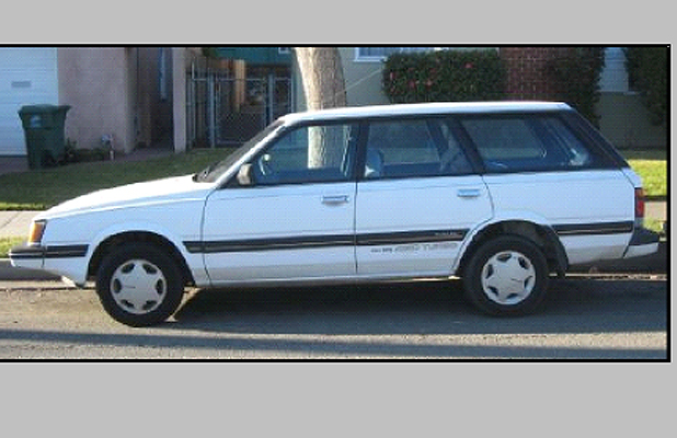 APPEAL: Police are appealing for any sightings of a silver Subaru station wagon similar to this one.