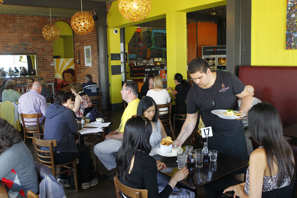 BUSTLING JOINT: The punters are flocking to Caffiend in Petone.