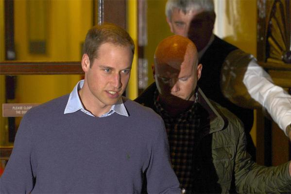 Prince William leaves after visiting his wife Kate at King Edward VII Hospital in London.