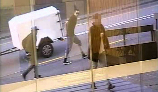 CCTV footage aptures murder suspects Manuel Robinson, left, and Nicho Waipuka