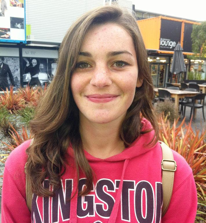 Aimee Shaw, 18, wants more cafes and places to shop, other than at malls.