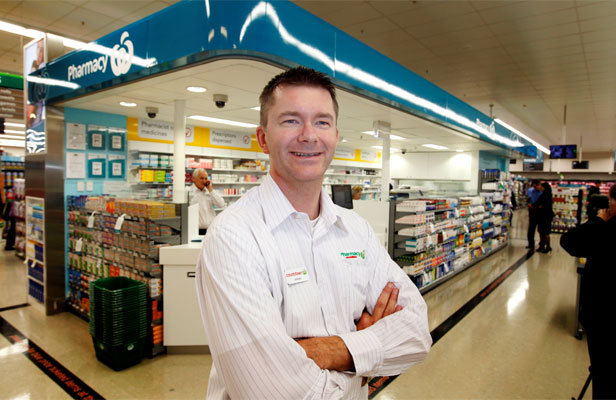 READY TO GO: Pharmacist Jeremy Armes at the opening of Countdown Newtown.