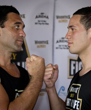 FACE OFF: Richard Tutaki believes he can beat up and coming professional Joseph Parker.
