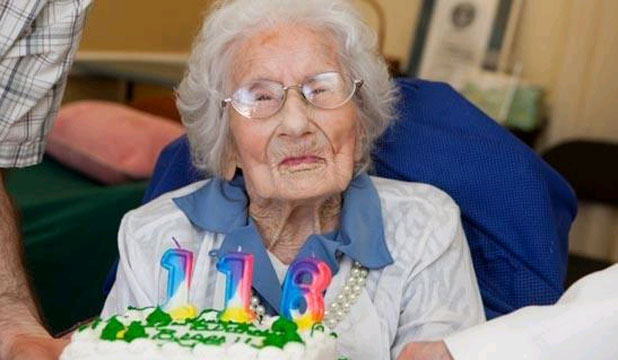 AT PEACE: Besse Cooper, the oldest person in the world, died aged 116.