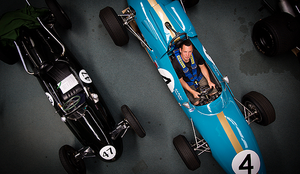 PRICELESS: Tim Rush in the 49-year-old Brabham BT4 intercontinental car he will drive for the first time next month.