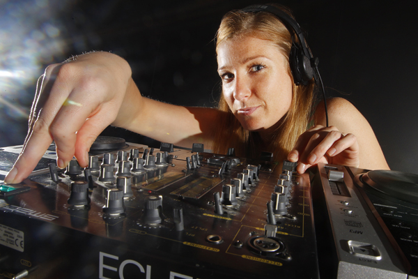 TOP NOTCH: Wellington DJ Debbie Hunt has been working in clubs all over Wellington since she finished at the top of her Certificate in DJ Music class in 2009.