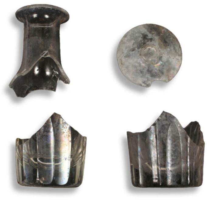 A small selection of the glassware found on the site.