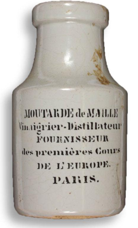 A French mustard pot.