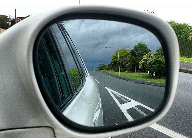 ROLLING IN: A motorist captured this picture on Auckland's North Shore as grey clouds hit the city.