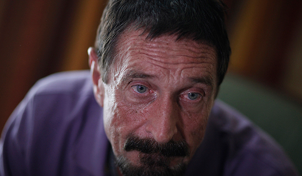 OUT OF THE FRYING PAN: Anti-virus software guru John McAfee has been arrested for illegally entering Guatemala.