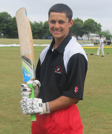 IMPRESSIVE: Counties Manukau's Marky JB was one of the leading batsman at the Northern Districts' junior secondary school tournament in Manurewa this week.