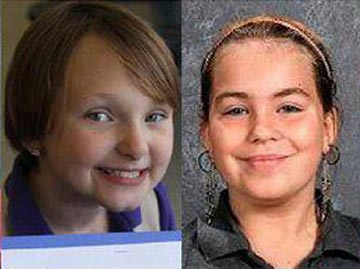 Elizabeth Collins, 8, and Lyric Cook, 10